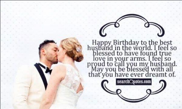 Chúc mừng sinh nhật chồng yêu