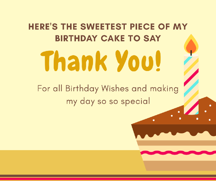 Lời cảm ơn sinh nhật bằng tiếng Anh