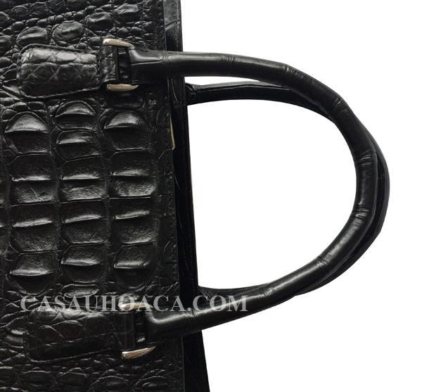 Mặt dây quai tay cầm túi xách da cá sấu 7134