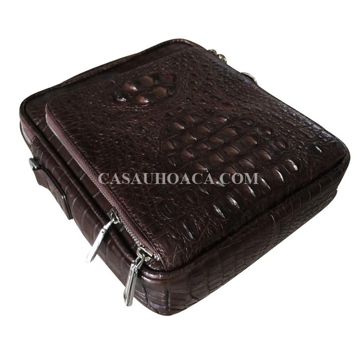 Mặt nghiêng túi đeo chéo da cá sấu 0201