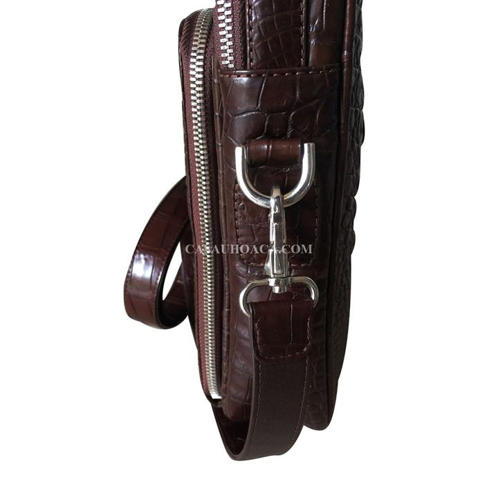 Phần khoá túi đeo chéo da cá sấu 0201