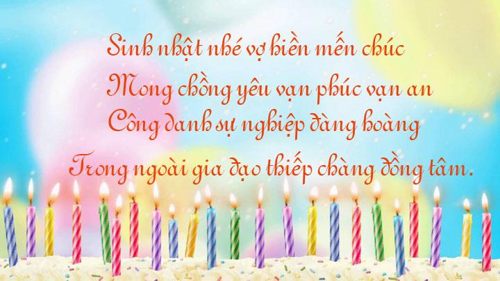 Làm thơ chúc mừng sinh nhật chồng