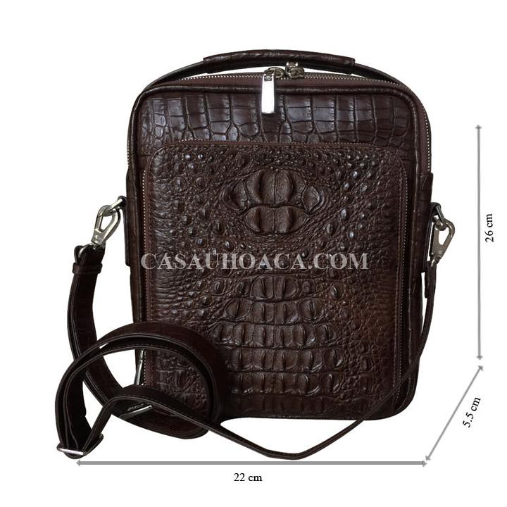 Túi đeo chéo da cá sấu 0201