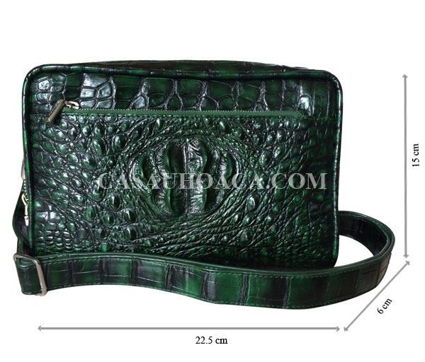Túi đeo chéo nam da cá sấu 00901