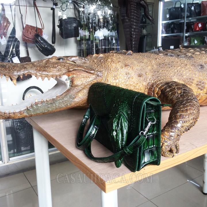 Túi xách da cá sấu đặc biệt 01901 (hình 4)