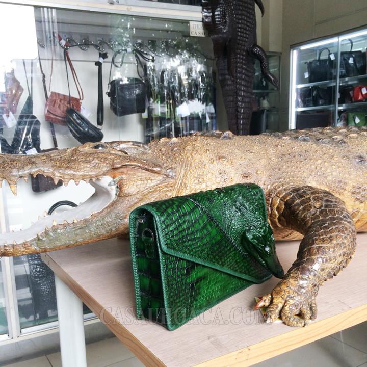 Túi xách da cá sấu đặc biệt 01901 (hình 6)