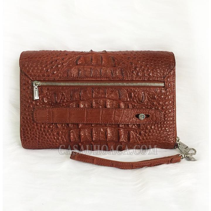 Mặt sau ví cầm tay da cá sấu nữ 1186