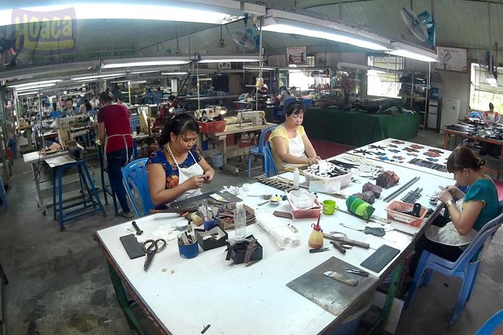 Xưởng sản xuất da cá sấu Hoa Cà