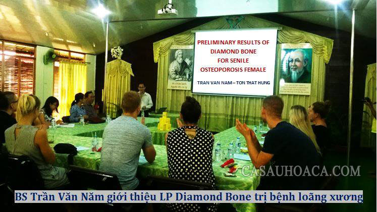 Bác sĩ Trần Văn Nam giới thiệu liệu pháp Diamond Bone trị bệnh loãng xương