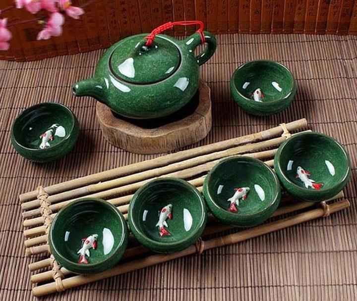 Bộ ly uống trà