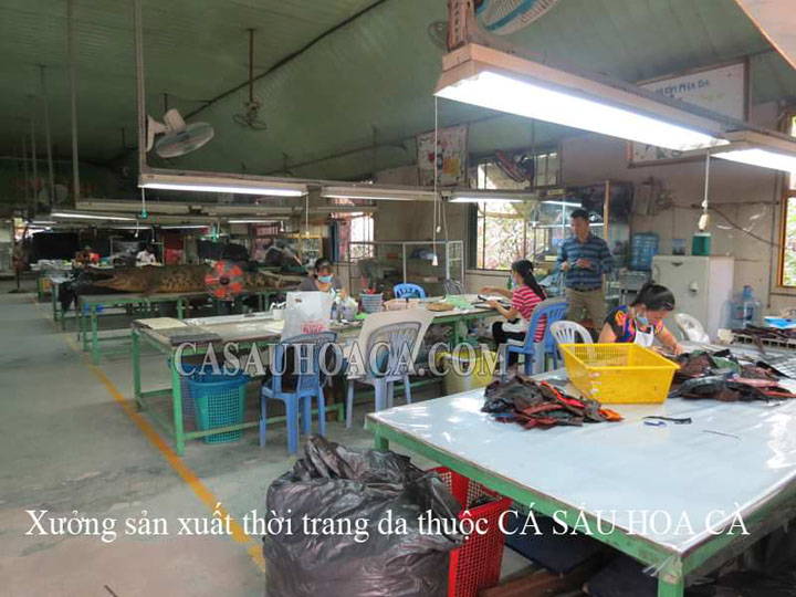 Xưởng Sản Xuất Thời Trang Da Cá Sấu Cao Cấp