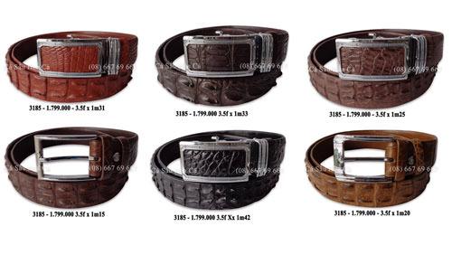 Các mẫu dây nịt da cá sấu 3185