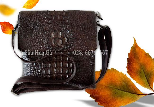 Túi đeo chéo nam da cá sấu da nguyên con chuyên dùng Ipad - 0199