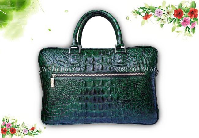 Túi xách nam da cá sấu Hoa Cà nguyên con - 71631