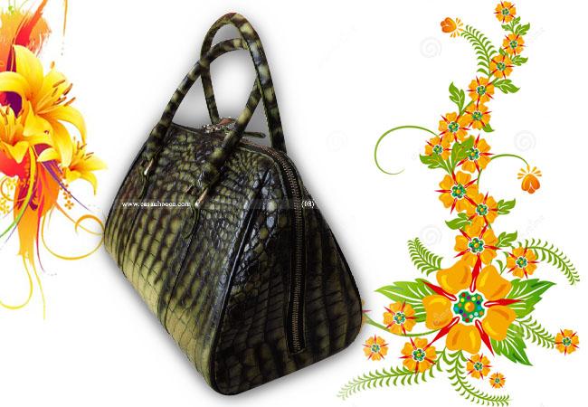 Túi xách cá sấu Hoa Cà da bụng - 01131 - Mã số: HCX04606