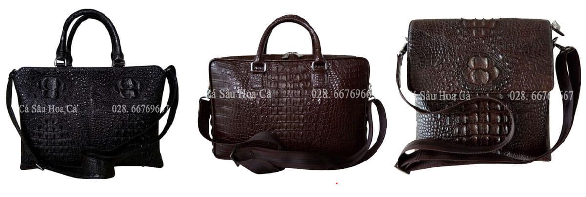 Túi xách da cá sấu hàng hiệu Hoa Cà dành cho nam đành đạt!