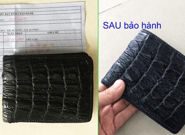 Bảo hành đan viền và làm mới bóp bị cũ mốc D1141