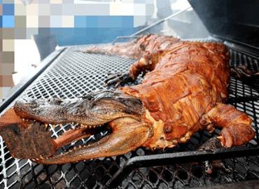 Cách làm cá sấu nướng nguyên con