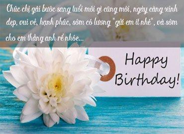 Lời chúc sinh nhật ngọt ngào cho chị gái yêu quý