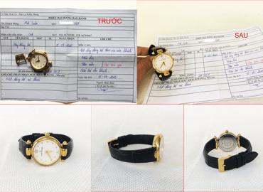 Đặt hàng theo yêu cầu dây đồng hồ nữ da cá sấu hoa cà 2082
