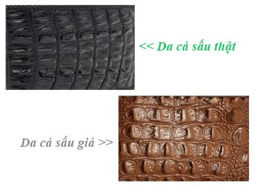 Cách phân biệt da cá sấu thật và giả