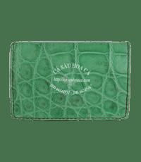 Hộp namecard da bụng cá sấu_Màu xanh lá - 4526