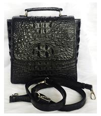 Balo da cá sấu màu đen dành cho nữ - 0224