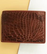 Bóp da cá sấu hoa cà chuyên ATM giảm giá 20% -  A1524