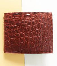 Bóp da cá sấu Hoa Cà 11 ngăn thẻ - 1523