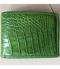 Bóp da cá sấu nam 2 mặt da đan viền hàng đặt theo yêu cầu - D1169