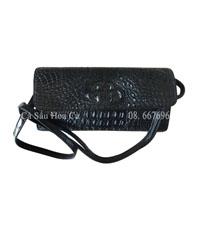 Bóp đầm da cá sấu Hoa Cà nguyên con - A0104