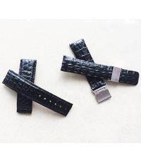 Dây da đồng hồ 2 mặt da gai bản 19, khoá 18 mm- 2076