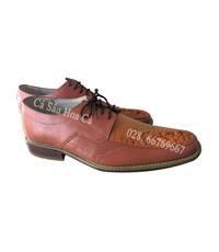 Giày nam cá sấu hoa cà da tay size 43 - 4102-Sale 50%