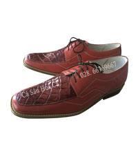 Giày nam cá sấu hoa cà da hông size 44 - 4102-Sale 50%