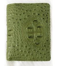 Hàng đặt ví da cá sấu kiểu đứng màu xanh - 1207