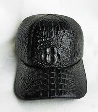 Hàng đặt nón da cá sấu gù nam màu đen 4531