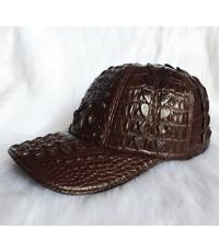 Nón kết da cá sấu dành cho nam và nữ màu nâu - 4531