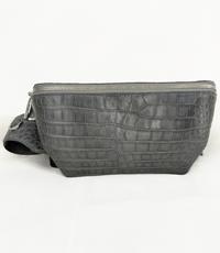 Túi đeo bụng cá sấu hoa cà - 0212