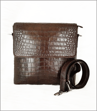 Túi đeo chéo cá sấu hoa cà -  0199