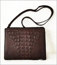 Túi đeo chéo nữ cá sấu hoa cà - D0009