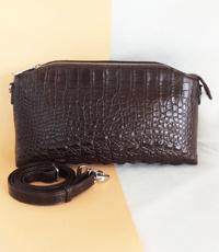 Túi xách nữ da cá sấu hoa cà  - 0169