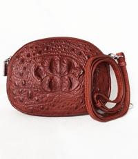 Túi đeo chéo tròn cá sấu nguyên con - 0209