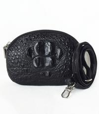 Túi đeo chéo tròn cá sấu 2 gù - 0209