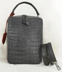 Hàng đặt túi đeo dọc cá sấu hoa cà - 0214