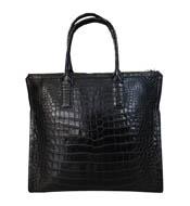 Túi xách cầm tay nữ da cá sấu phần da bụng - 0188