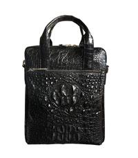 Túi đeo chéo da cá sấu cao cấp màu đen - A0166