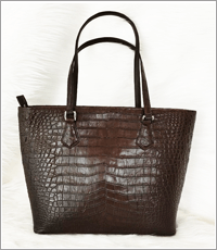 Túi xách nữ da cá sấu Hoa Cà - 0187