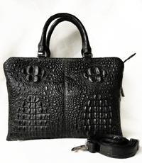 Túi xách da cá sấu hoa cà 4 con cá - A0162