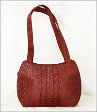 Túi xách nữ da cá sấu hoa cà 0011