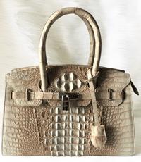 Túi xách da cá sấu nữ màu trắng - 0200